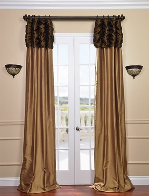 Chocolate Curtain Panels - Rooms