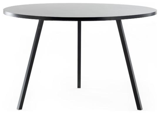 loop stand runder tisch schwarz 105 cm hay design modern. Black Bedroom Furniture Sets. Home Design Ideas