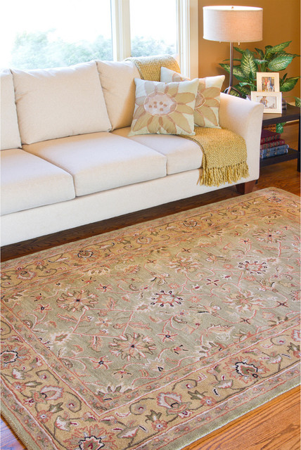 ... Oriental Wool Rug (8' x 11') - Contemporary - Rugs - by Overstock.com