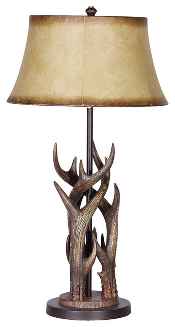 barker and stonehouse triple antler lamp with shade With lamp table barker and stonehouse