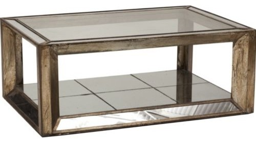 Rectangle Mirrored Coffee Table