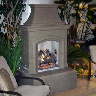 American Fyre Designs Chica 39 Inch Outdoor Propane Gas Fireplace Smoke Modern Indoor