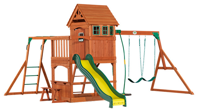 backyard discovery montpelier all cedar wood playset traditional kids