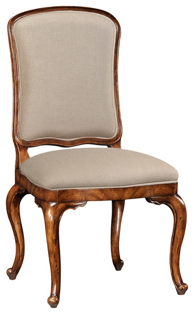 Jonathan charles french upholstered dressing table chair for Dining table dressing