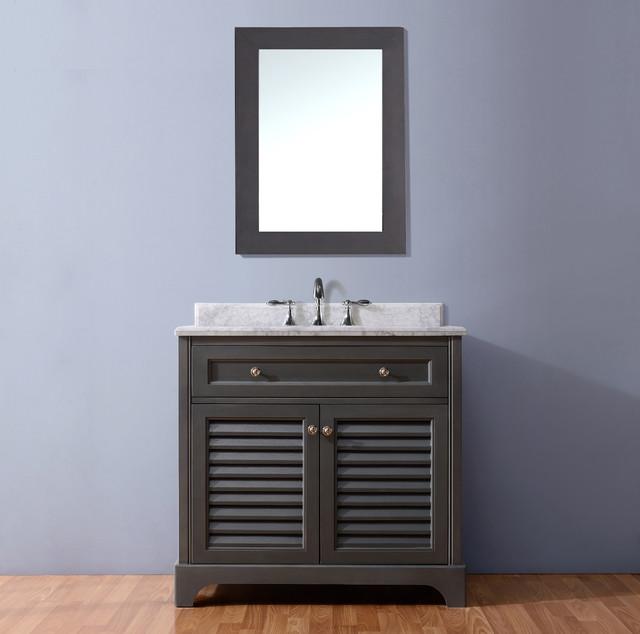 36 Mason Bathroom Vanity Antique Gray Traditional Bathroom Vanities And Sink Consoles
