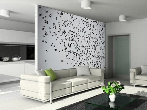 Bird Wall Decal Living Room Wall Decoration Modern Wallpaper | Grab  Decorating Part 81