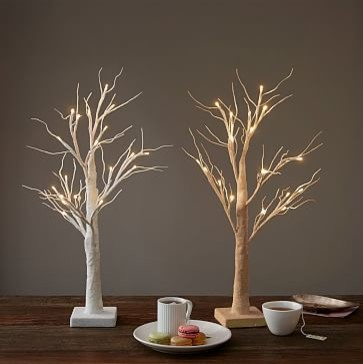 Led glitter tree 24 champagne glitter artificial for West elm christmas tree