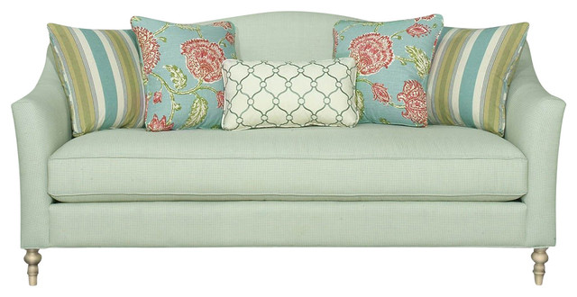 Custom Upholstered Fabric Sofa Atherton Traditional Sofas