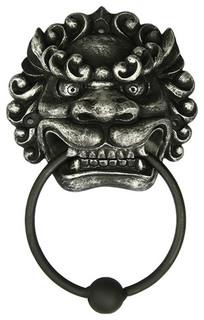 Oriental Foo Dog Door Knocker - Asian - Door Knockers - by LABEShops