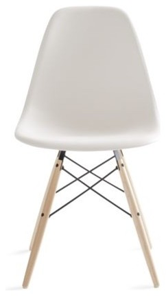 eames molded plastic dowel leg side chair midcentury dining chairs