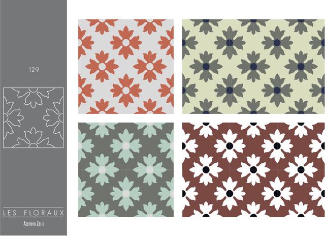 Carreaux de ciment collection les floraux landhausstil for Tarif carreaux de ciment