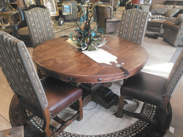 Timberline 60 Quot Round Dining Table Rustic Dining Tables