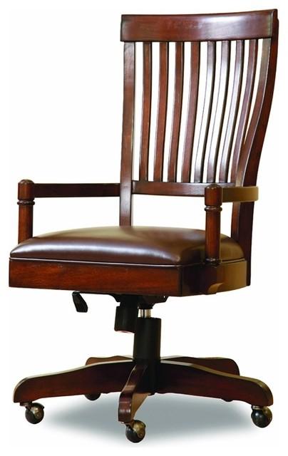 Hooker Furniture Abbott Place Desk Chair Warm Cherry Transitional