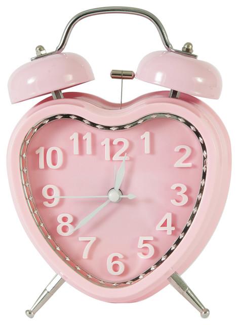 Sweetheart Table Top Alarm Clock Pink Farmhouse Kids