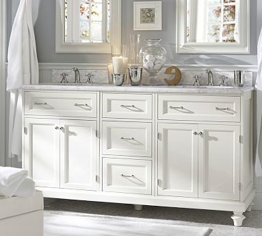 Modular Classic Double Sink Console With Doors Amp Drawers