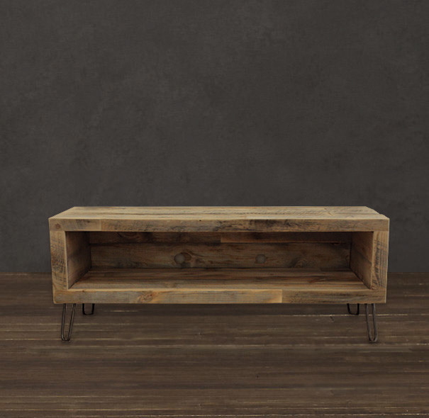 Tv Tables Media Unit: Small Console, Reclaimed Wood Media Entertainment Stand