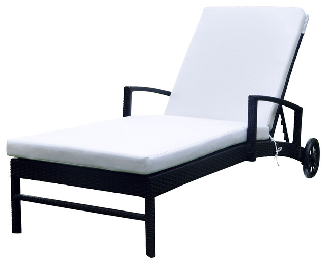 Elb outdoor torino wicker chaise lounge contemporary for Chaise longue torino
