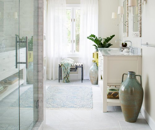 Room of the Day: Bye-Bye, Black Bidet — Hello, Classic Carrara