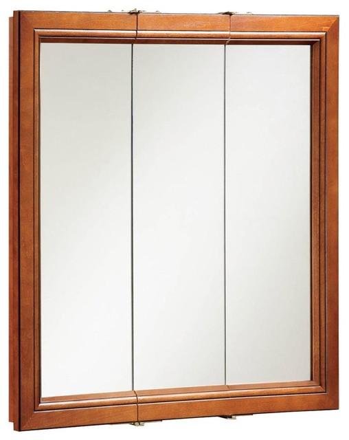 Triple Door Medicine Cabinet Mirror Contemporary Bathroom Cabinets By Shopladder