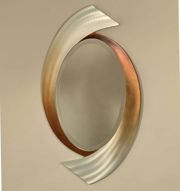 Swerve Designer Wall Mirror By Nova Lighting Modern