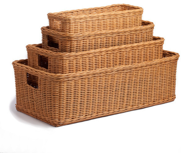 Traditional Small Wicker Basket With Liner&handle : Long low wicker basket toasted oat small traditional