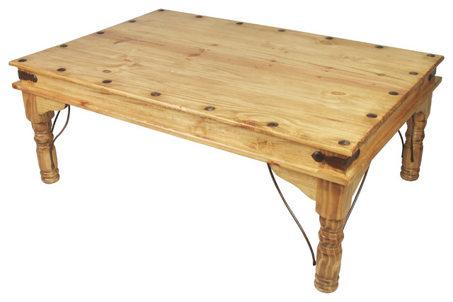 Mexican Pine Indian Coffee Table Traditional Coffee Tables Other Metro By Direct From