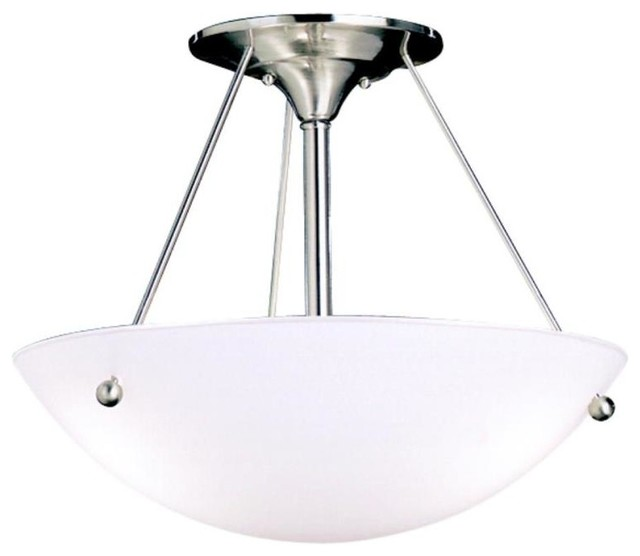 Kichler Lighting 3752NI Family Space Three Light Semi Flush Mount Con