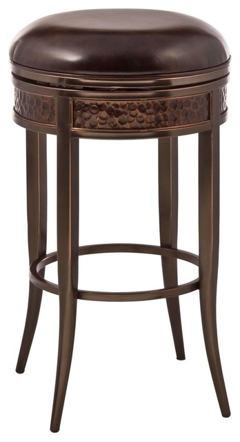Hillsdale Parkside Backless Swivel Counter Stool Copper
