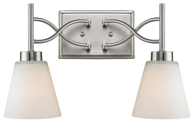 Transitional Bathroom Vanity Lights : 2 Light Vanity - Transitional - Bathroom Vanity Lighting - by We Got Lites