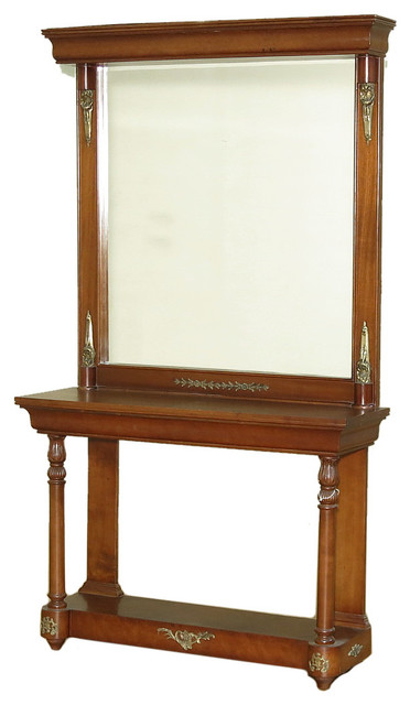 Tall Foyer Mirror : Consigned antique tall french style mahogany console