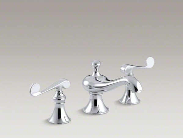 KOHLER Revival R Widespread Bathroom Sink Faucet With Scroll Lever Handles