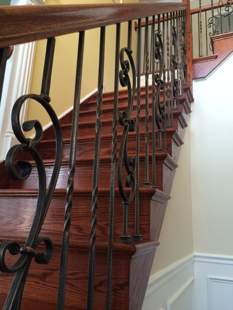 Oil Rubbed Bronze Iron Traditional Staircase