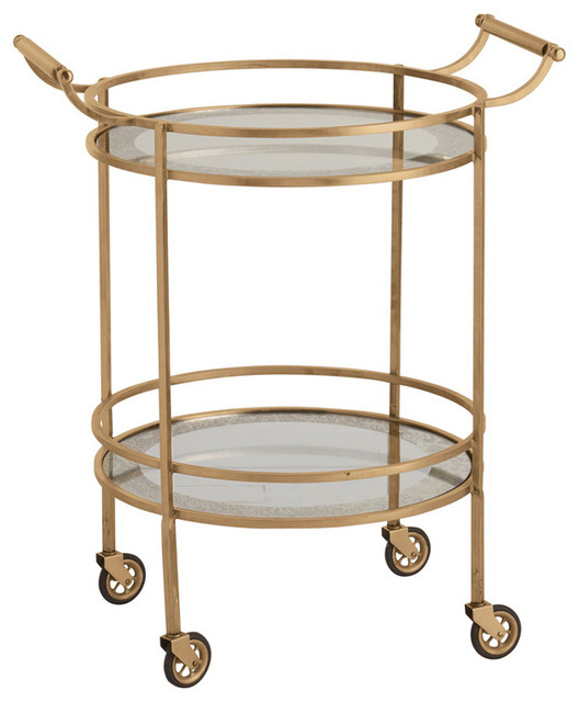 ... /Glass Bar Cart - Modern - Filing Cabinets - by Bliss Home and Design