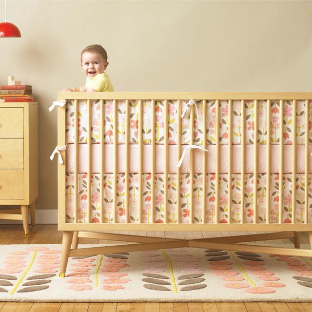 Rosette Blossom Crib Bumper