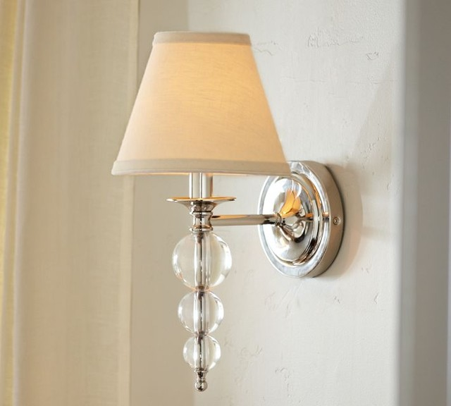 Wall Sconces Pottery Barn : Stacked Crystal Sconce - Contemporary - Wall Sconces - by Pottery Barn