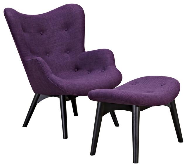 Aiden Chair Plum Purple Black Modern Armchairs And