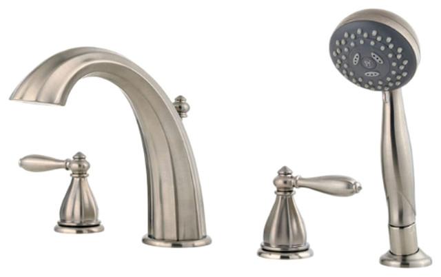 Pfister RT6 4RPK Portola Roman Tub Faucet Trim With Spray Modern Bathtub