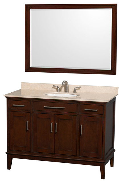 48 In Eco Friendly Single Vanity With Rectangular Mirror Contemporary Bathroom Vanities And