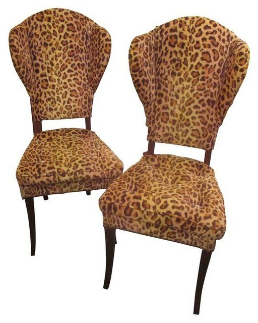 Pre Owned Leopard Chairs Attributed To Tommi Parzinger