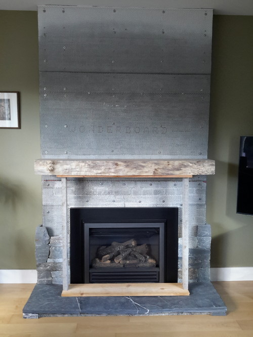 Right Fireplace Mantle Height