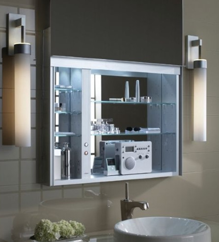 ROBERN ELECTRIC 48IN UPLIFT MEDICINE CABINET W/ DEFOGGER - Traditional - Bathroom Cabinets And ...