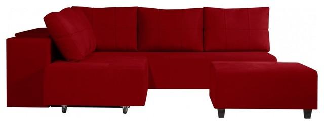 ecksofa jefferson ii mit ottomane rot rechts modern. Black Bedroom Furniture Sets. Home Design Ideas