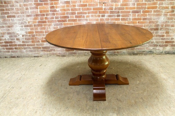 52 Round Reclaimed Dining Table Rustic Dining Tables Boston