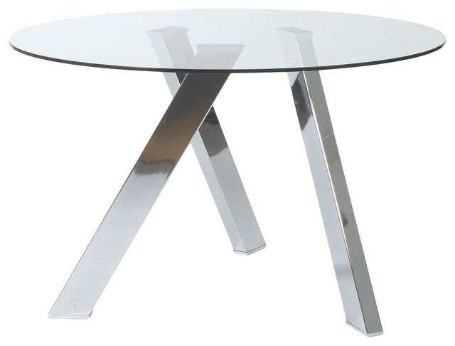 Fridrika 48quot Round Glass Dining Table modern dining tables : modern dining tables from houzz.com size 640 x 486 jpeg 28kB