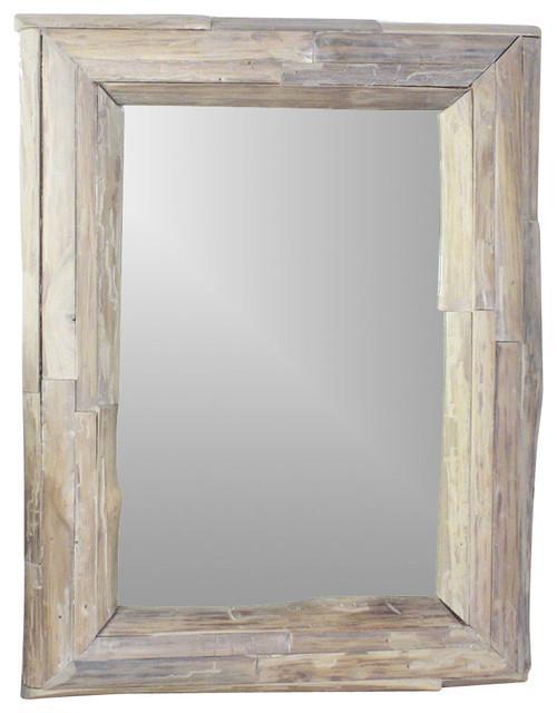 Mirror natural edge farmed teak branch eco friendly agate for Craftsman mirrors bathroom