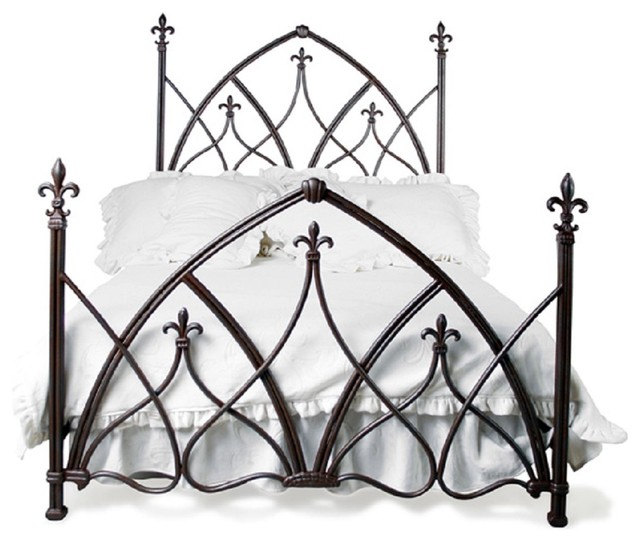 Iron Canopy Bed Frame Queen