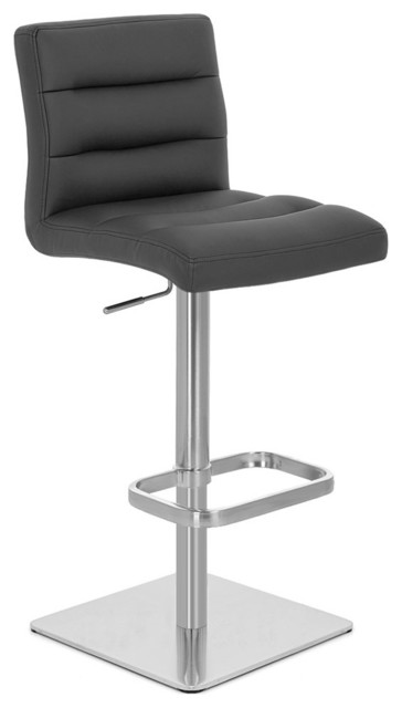 Lush Square Base Adjustable Height Swivel Armless Barstool