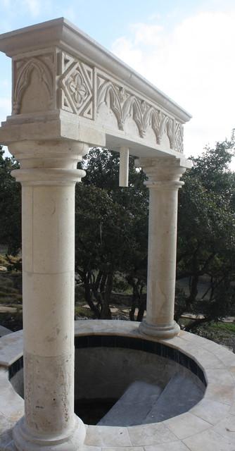 Outdoor Decorative Cantera Columns Traditional Columns