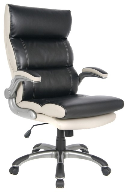 gray bonded leather executive office chair contemporary office chairs