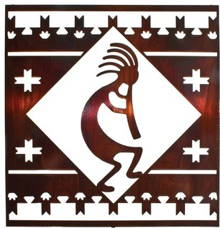 Southwest Metal Wall Art Kokopelli Lodge Square 24 Quot Honey